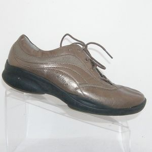 Clarks In-Motion bronze leather sneakers 10M
